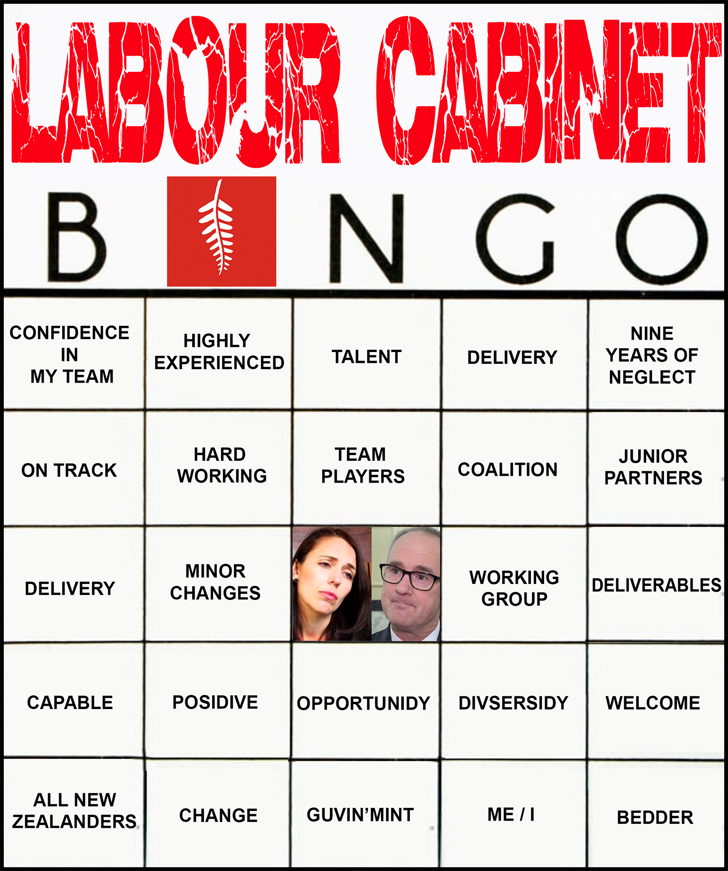 The Bfd Let S Play Cabinet Reshuffle Bingo