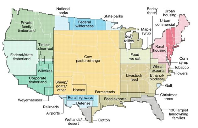 The BFD | The BFD Map of the Day: US Land Use