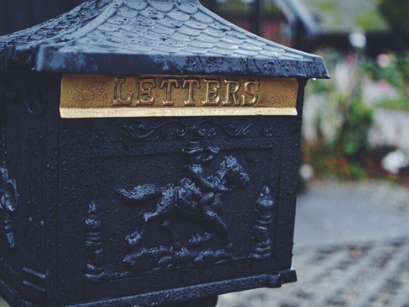 black man riding horse emboss-printed mail box